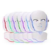 led-lichtmaschine hautpflege groihandel-Gesundheit Schönheit 7 Farben LED Photon Gesicht Nackenmaske PDT Licht Maschine Für Hautpflege Verjüngung Tragbares Gerät Für Den Heimgebrauch