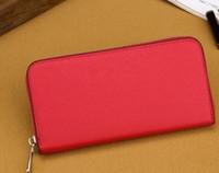 Wholesale famous brand purses for sale - Group buy famous brand fashion single zipper cheap luxury designer women pu leather wallet lady ladies long purse