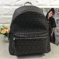 кожа темно-коричневая оптовых-Модные женские брендовые рюкзаки из искусственной кожи на ремне, мини-сумка простая сумка для отдыха двух цветов черный / темно-коричневый бесплатная доставка