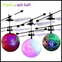 Wholesale ball helicopters toys for sale - Group buy Flying Bright Sphere RC Children Flying Ball Anti Stress Drone Helicopter Infrared Induction Aircraft Remote control Toys