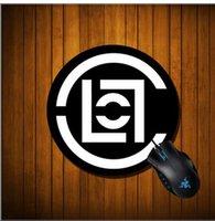 portátil de color azul al por mayor-20 CM Ronda Mouse Pad Boy Regalo Pad Simple pizarra tablero de tiza libro Portátil Ratones Ratón Gamer Speed Mice Venta al por menor Ronda Mousepad