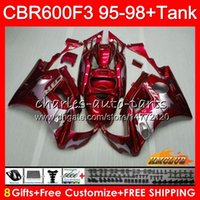 Wholesale 97 f3 fairings for sale - Group buy Body Tank For HONDA CBR F3 CC CBR600 F3 HC CBR FS F3 CBR600FS red flames CBR600F3 Fairing