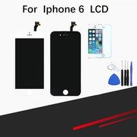 gehärtetes digitalisierglas großhandel-Für iPhone 6 LCD-Bildschirm Ersatz Retian LCD Touchscreen Digitizer Fram Assembly Komplettsatz mit gehärtetem Glas Displayschutzfolie + Toolsfor