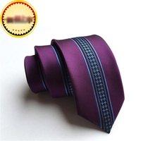узкие серые галстуки оптовых-Производители пользовательских новые личности моды галстук полиэстер шелк жаккард 6см узкое позиционирование галстук