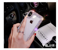 Wholesale new phone case models for sale – best Applicable to iPhone x mobile phone case all inclusive new female models silicone transparent rhinestone net red soft shell with drill