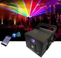 Wholesale laser dj lights ilda resale online - newest W ILDA RGB Programming Stage Laser Light for DJ Disco bar event LLFA