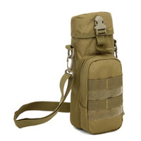 нейлоновые мешки с водой оптовых-Outdoor Multifunction Climbing  Durable Canteen Cover Tactical Nylon Camping Molle Pack Water Bottle Pouch Kettle Bag