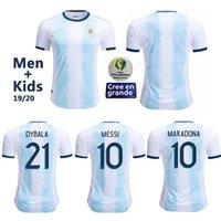 argentinien zuhause großhandel-2019 Argentina soccer jersey Fußball-Trikot Fußball-Trikot für Kinder von Agüero