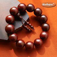 ingrosso perline di rame 14mm-Bracciale con perline in legno di sandalo iIndiano rosso naturale autentico 18mm per uomo donna regalo alta densità con bracciale in palissandro Venus