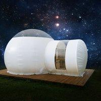 ingrosso tende gonfiabili campeggio familiare-Tenda gonfiabile della bolla per la tenda di campeggio della famiglia Casa della cupola di Eco Camera di lusso della casetta della cabina di campeggio della cupola di lusso con la pompa