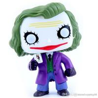 juguetes caballero oscuro al por mayor-Funko Pop 12cm Joker The Dark Knight Villain 'S Edición Animación Figura de acción Pvc Modelo Muñeca de juguete Brinquedos T75