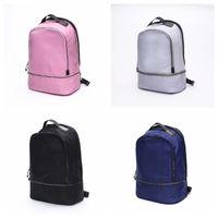 The LU Backpack Yoga Backpacks Travel Outdoor Sports Bags Teenager School 4 Colors