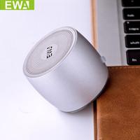 tablet için müzik hoparlörü toptan satış-EWa A103 Telefon Tablet PC Için Bluetooth Mini Hoparlör Kablosuz Taşınabilir Hoparlörler Metalik Müzik Çalar Stereo Açık Hoparlör