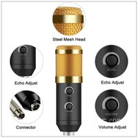 Wholesale microphone suspension resale online - USB Microphone For Computer Condenser Studio Karaoke Mic For PC NB Suspension Arm Pop Filter Upgraded From BM