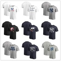 Wholesale new graphic tees online – design New York Baseball jersey Yankees Fanatics Branded Stars Stripes Banner Wave Logo T Shirt Mens graphic tees Fans Tops shirts printed