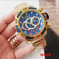 ingrosso orologi svizzeri-2019 Svizzera cosc top Qualità perfetta INVICTA brand Large quadrante 52mm cronografo in acciaio inossidabile Orologio al quarzo da uomo multifunzione