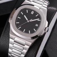 poignet achat en gros de-19 couleurs de luxe mens montre automatique mouvement Glide sooth seconde main verre saphir montres de haute qualité montre-bracelet
