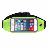 brazalete de la correa del caso del iphone al por mayor-Brazalete deportivo Cintura Banda Cinturón Correr Cartera Bolsa Impermeable GYM Estuche para iPhone 6 6 7 8Plus