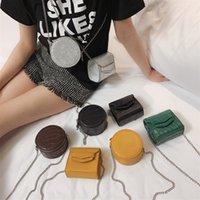 ingrosso borse quadrate carine-Cuoio Carino Mini Borse Crossbody per le donne 2019 Round Square spalla del messaggero delle signore di sacchetto del telefono borse e borsette