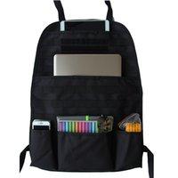 sugeçirmez kirli çanta toptan satış-Toz geçirmez Çocuk Kick Mat Çamur Kir Korumak Su Geçirmez Spor Çanta 1 ADET Araba Koltuğu Geri Organizatör Çanta