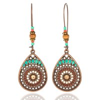 Wholesale hanging copper earrings for sale - Vintage Boho India Ethnic Water Drip Hanging Dangle Drop Earrings for Women Female New Wedding Party Jewelry Accessories