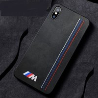 Wholesale Luxury Soft Turn Fur Embroidery BMW Motorsport Sport Car Case For iPhone XS Max Pro Max XR X Plus