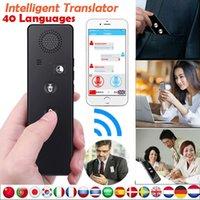 eletrônicos reais venda por atacado-Tradutor de Voz Inteligente em Tempo Real Tradução de Idiomas Eletrônica Bluetooth