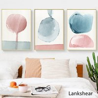 Wholesale painting pastels resale online - Abstract Paintings On The Wall Wall Art Pastel Posters And Prints Minimalist Canvas Painting Decoration Pictures Art Decor