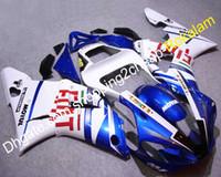 yzf r1 verkleidungskit fiat großhandel-Günstige YZF1000 R1 00 01 Body Kit Für Yamaha YZF-R1 2000 2001 YZF 1000 Sport Bike FIAT Motorrad Verkleidungen (Spritzguss)