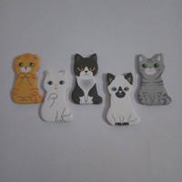 klebrige pads niedliches tier groihandel-Funny Animal House Sticker Tab Haftnotizen Nette Katze Selbstklebende Notizblöcke Schreibwaren Büro Schulbedarf Kostenloser Versand