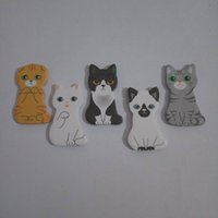 ingrosso adesivo casa animale-Funny Animal Sticker Sticker Tab Sticky Notes Simpatico Gatto Memo pad autoadesivi Cancelleria Forniture per ufficio Office Spedizione gratuita