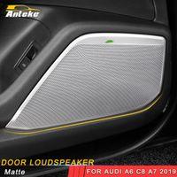 Wholesale interior chrome trim for cars resale online - For Audi A6 C8 A7 Car Styling Door Gate Loudspeaker Sound Chrome Pad Speaker Cover Trim Frame Sticker Interior Accessories