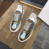 Wholesale metal casual shoes for sale - Group buy New arrivel scarpe da uomo firmate Metal surface with Blue nappa fish scale pattern design luxury brands casual shoes F