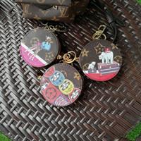 cadeaux pour l'amour achat en gros de-keychians mode en cuir pu Love Bird Porte-clés Alliage Porte-clés Animal Bijoux Pour Femmes Filles Sac De Voiture Charmes Cadeau Pet R323
