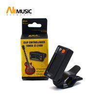 ukulele black venda por atacado-ENO ET-31GB Eletrônica Digital Automático Chromatic Clipe Guitar Bass Tuner cor Preta Frete grátis MU0109