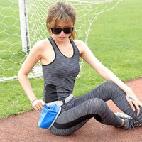 Wholesale water bottle bag belt resale online - Unisex Running Waist Bag muti function Outdoor Sports Fitness Jogging Climbing Cycling Belt Bags with Water Bottles Holder