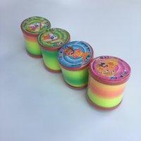 juguete circulo arcoiris al por mayor-Nuevo Large Rainbow Circle niños juguetes educativos de plástico Rainbow Circle Large Magic Rainbow Circle Puzzle Toy
