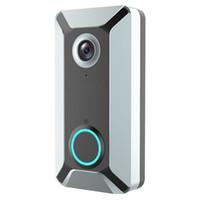 Wholesale intercom doorbell outdoor resale online - New V6 outdoor multi function intelligent WIFI video doorbell camera wireless remote video voice intercom home surveillance camera