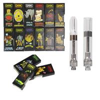 nautilus aspire bdc spule großhandel-Dank Holographic Black Verpackung Vape Cartridges G5 510 1.0ml Gewindeschraube 1 Gramm Keramikspule 2.0mm Loch CartridgeThick Oil Cartridges