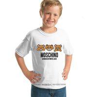muchachas lindas medio camisetas al por mayor-2019 Ropa para niños Ropa de verano para niña de manga corta T camiseta linda Niños bebés Medio algodón entero Chaqueta para niños Ropa 0317