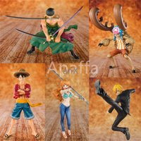 Wholesale nami anime figure for sale - Group buy One Piece Action Figure th Anniversary Edition Luffy Sanji Zoro Nami Chopper Toys Model Decoration Gifts for Kids Anime Figure T200321