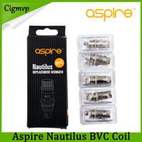 clearomizador de bobina vertical al por mayor-Aspire Nautilus BVC bobina 1.6ohm 1.8ohm 2.1ohm para Aspire Nautilus Mini Clearomizer reemplazo inferior vertical BVC bobina E-cigarrillo libre de DHL
