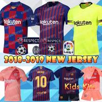 dbc47c020 2018 New Barcelona Jerseys 10 Messi 9 Suárez 7 Coutinho Football uniforms 4  Ivan Rakitic 18 Jordi Alba Away Home Soccer Jerseys