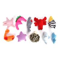 ingrosso pupazzi di bambola-Fun Sea Animal Cute Finger Puppets Bambola di stoffa Peluche Bambola giocattolo per bambini Early Learning Toy 10pcs SSA95