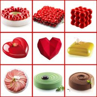 Wholesale chocolate cakes for sale - Group buy Cake Decorating Mold D Silicone Molds Baking Tools For Heart Round Cakes Chocolate Brownie Mousse Make Dessert Pan