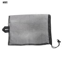 nadadeiras de mergulho venda por atacado-Quick Dry Swim Dive Net Saco de Cordão Tipo Esporte de Água Snorkel Flippers Armazenamento Piscina Saco de Embalagem de Rede