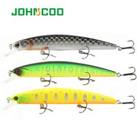 Wholesale long minnow lures for sale - Group buy Cheap Fishing s JOHNCOO Minnow Fishing Lure mm g Hard Bait Long Casting Wobbler Lure Professional Bass Pike Bait Slow Sinking Lure