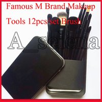 Wholesale travel makeup brush kit resale online - Famous M Brand Makeup Tools Makeup Brushes Set Kit Travel Beauty Professional Foundation eyeshadow Cosmetics Makeup Brush
