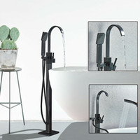 US Shipping Oil Rubbed Brozne Floor Mounted Bathroom Tub Filler Bathroom Tub Faucet FreeStanding Hand Shower Mixer Tap