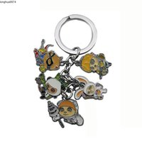 lol anahtarlıklar toptan satış-Heroes Anime LOL League of Characters Legends Model Keychains Accessories Cartoon Keyring Gift